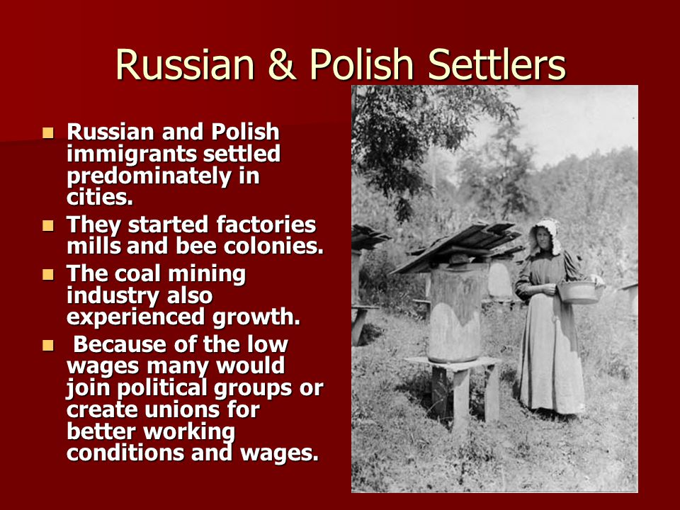 Russian & Polish Settlers