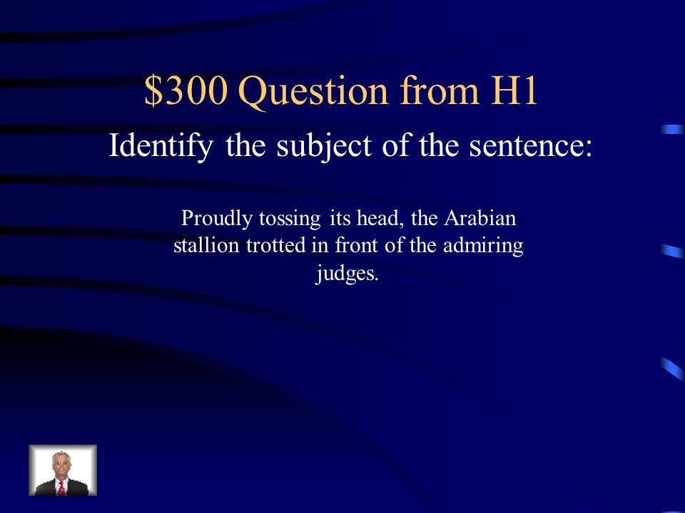Identify the subject of the sentence: