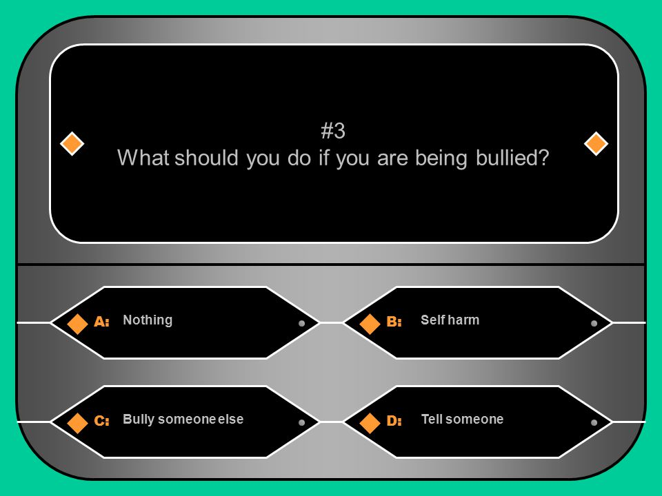 What should you do if you are being bullied