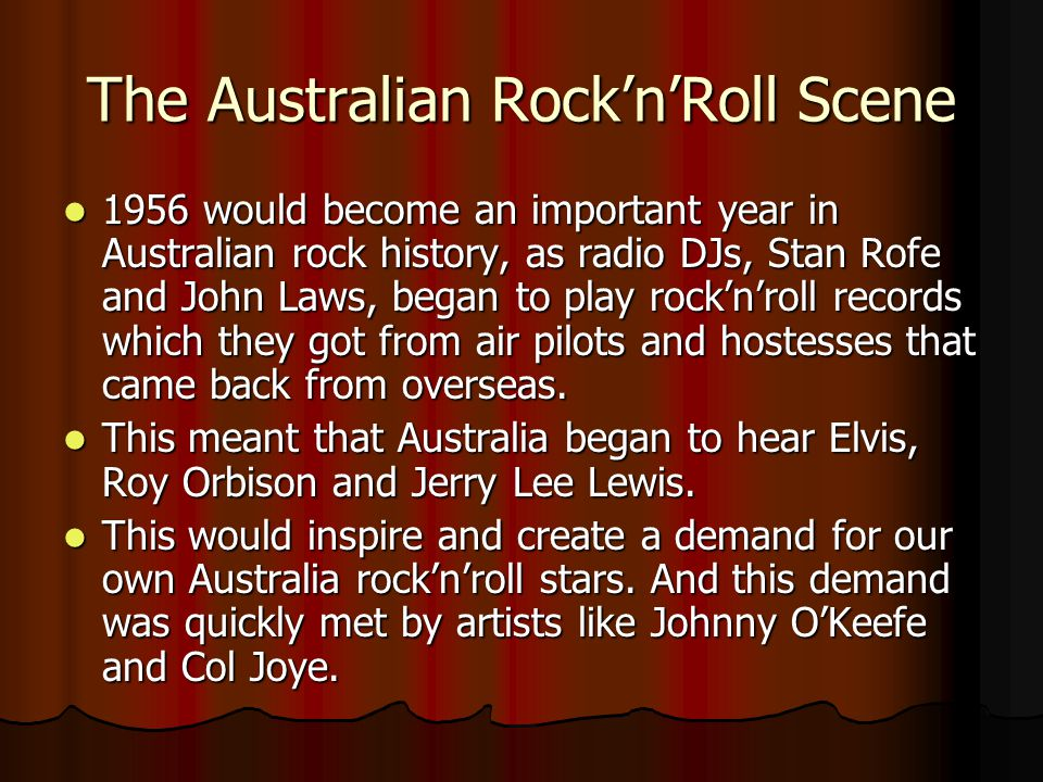 The Australian Rock'n'Roll Scene