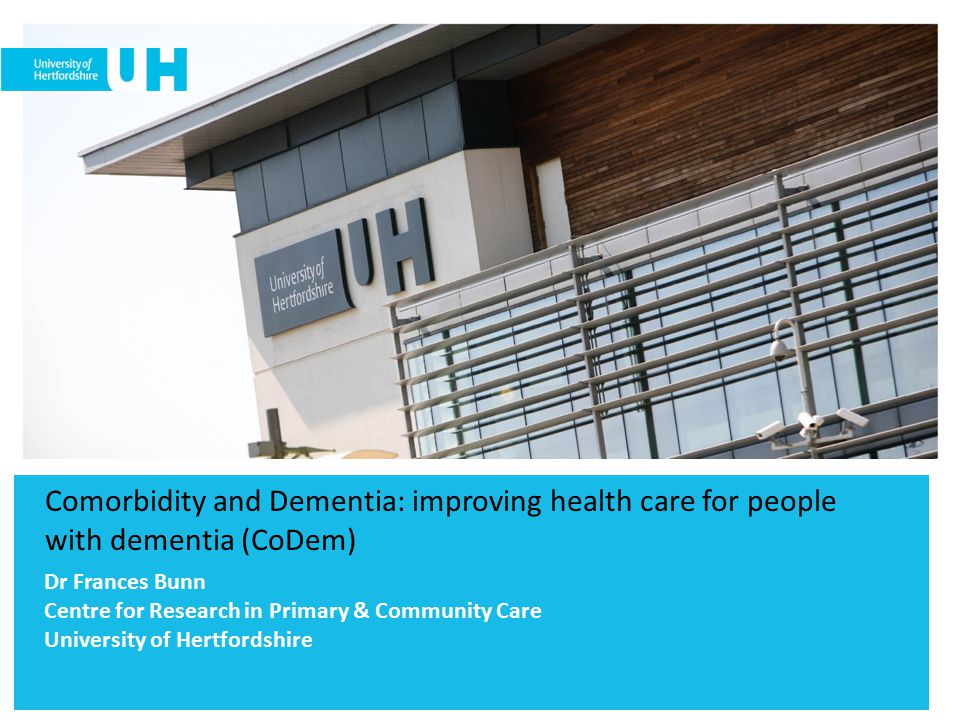 Comorbidity and Dementia: improving health care for people with dementia (CoDem)