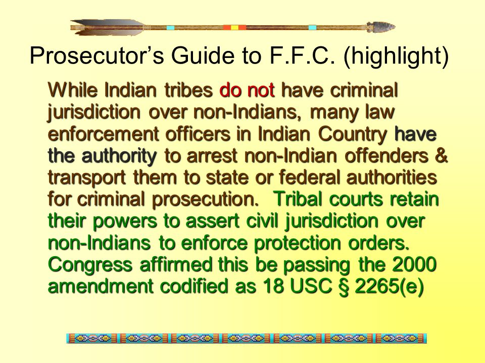 Prosecutor's Guide to F.F.C. (highlight)