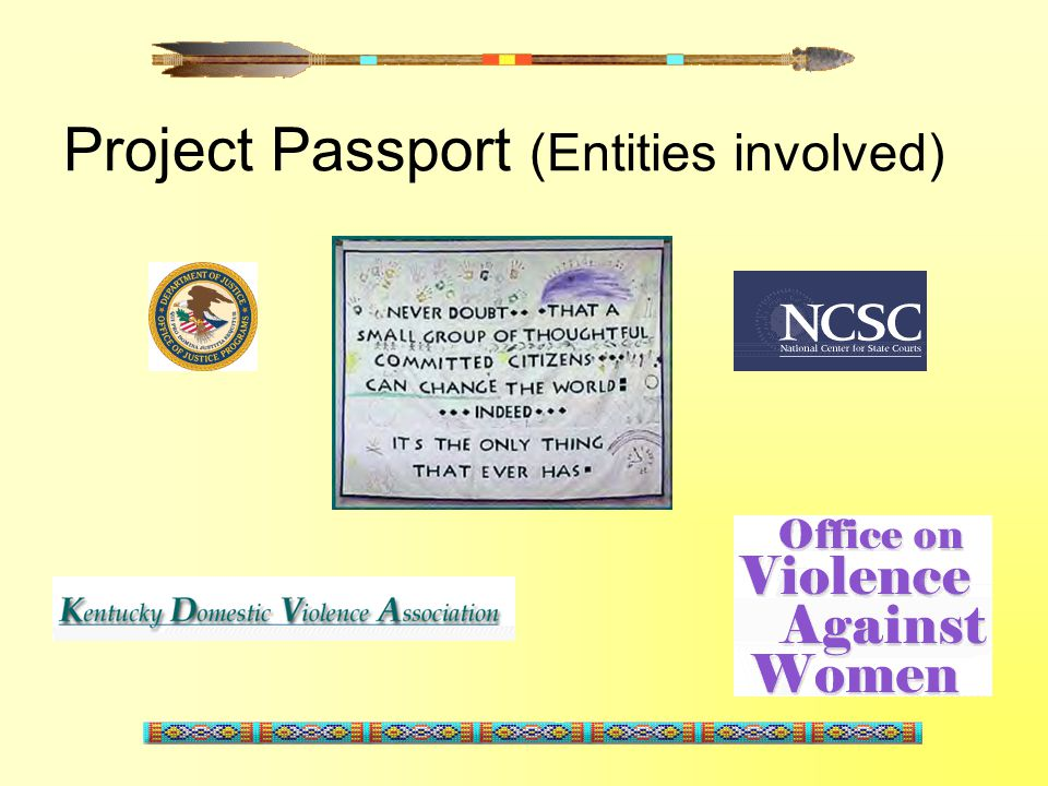 Project Passport (Entities involved)