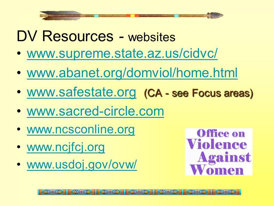 DV Resources - websites