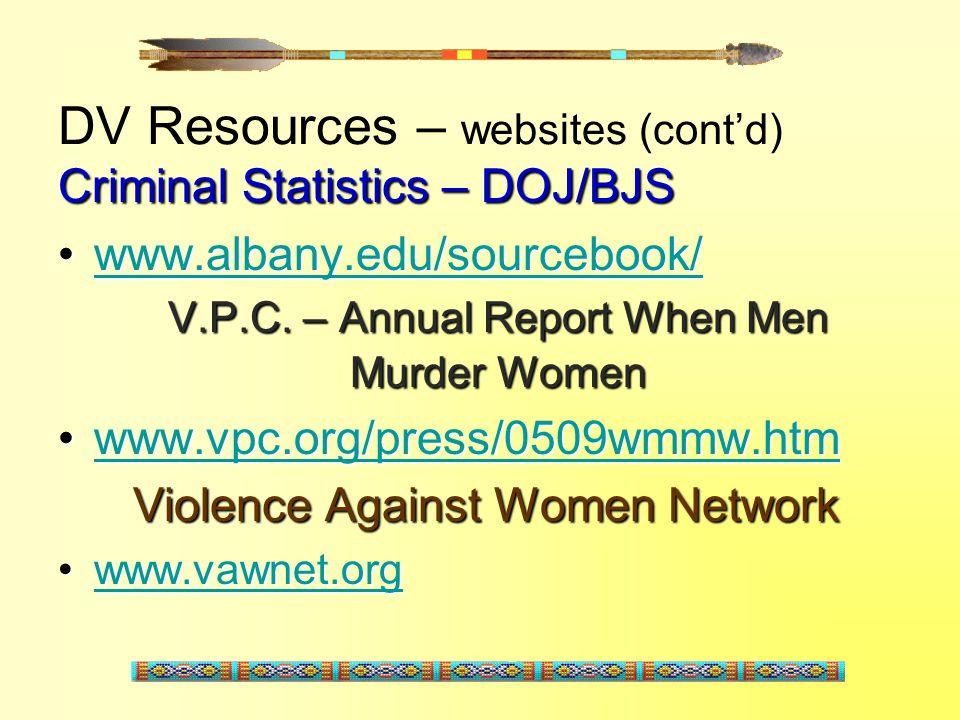DV Resources – websites (cont'd)