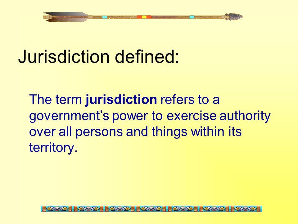 Jurisdiction defined: