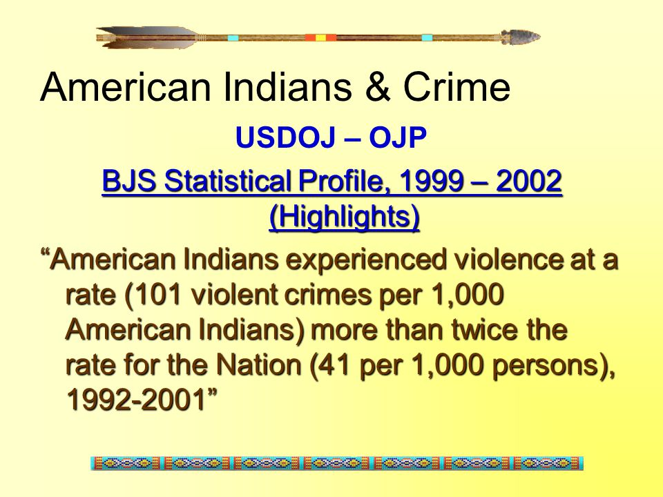 American Indians & Crime