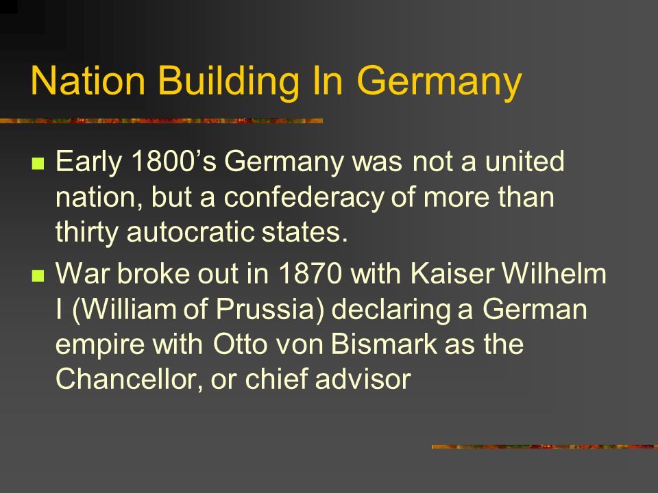 Nation Building In Germany