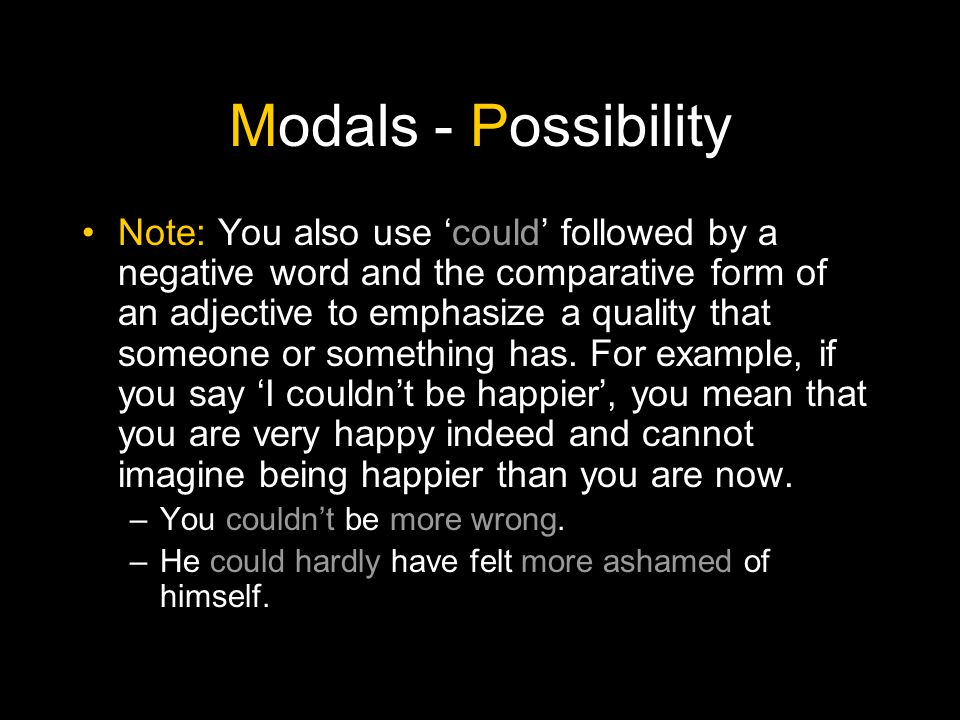 Modals - Possibility