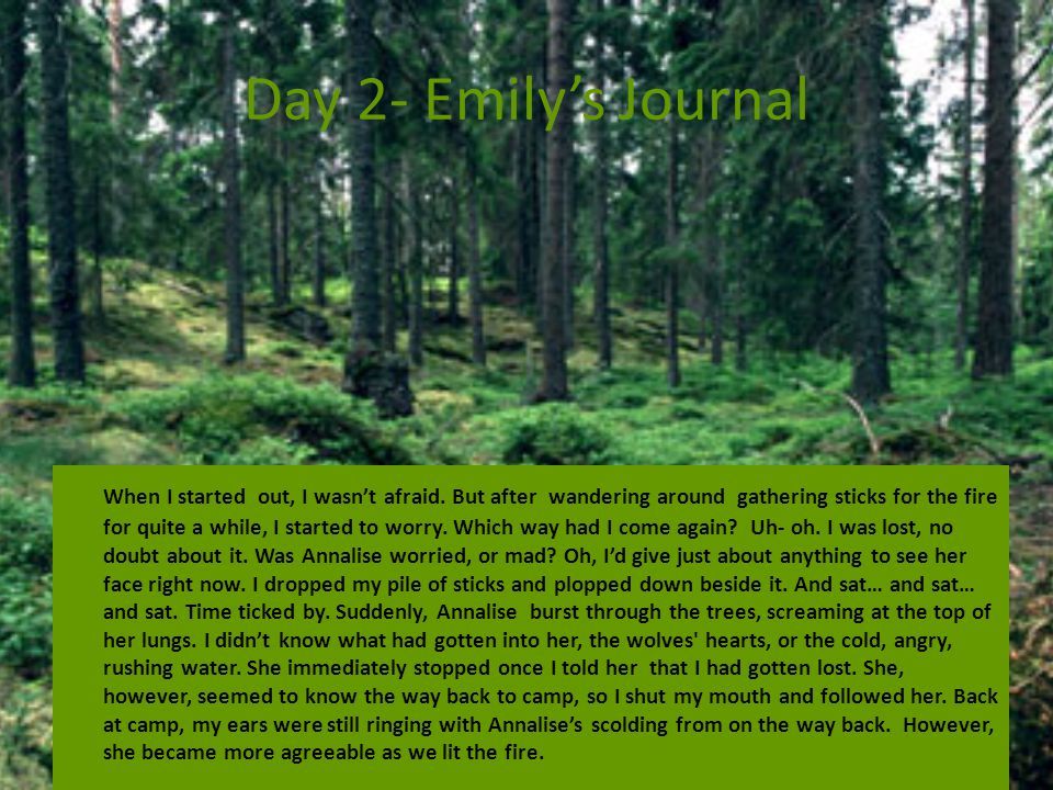 Day 2- Emily's Journal