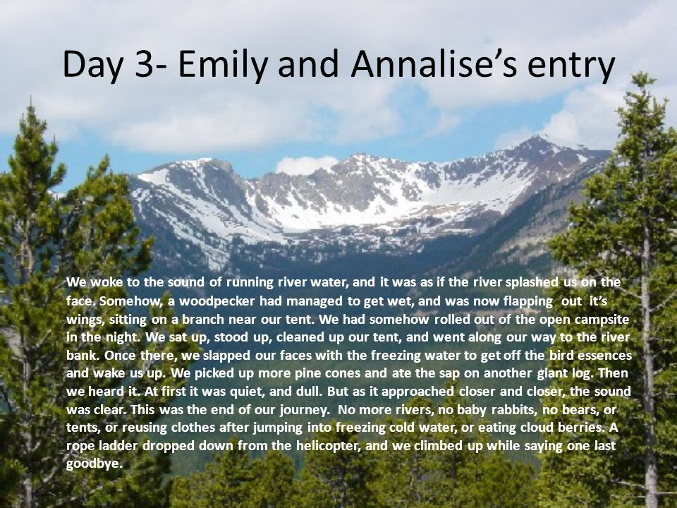 Day 3- Emily and Annalise's entry