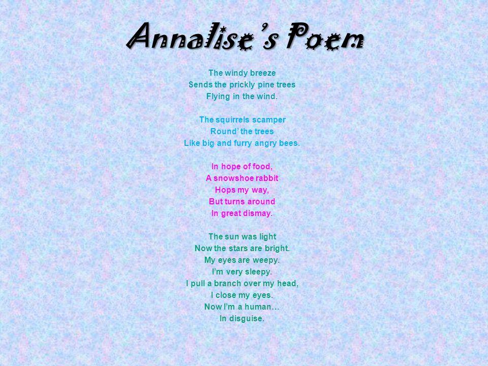 Annalise's Poem