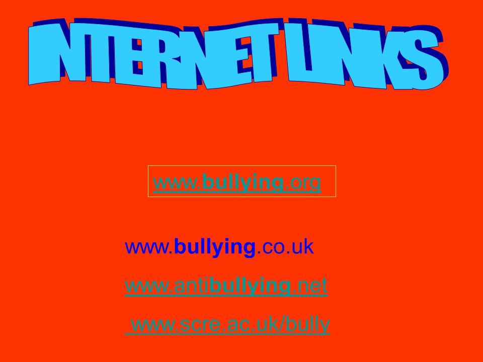 INTERNET LINKS www.bullying.org www.bullying.co.uk