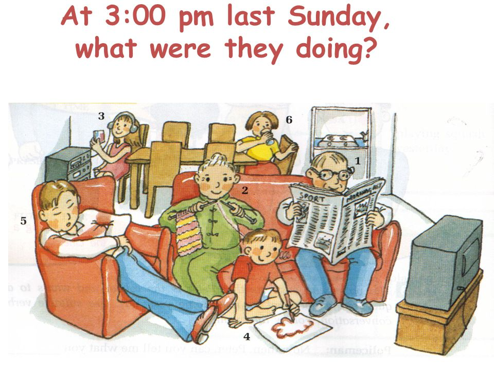 At 3:00 pm last Sunday, what were they doing