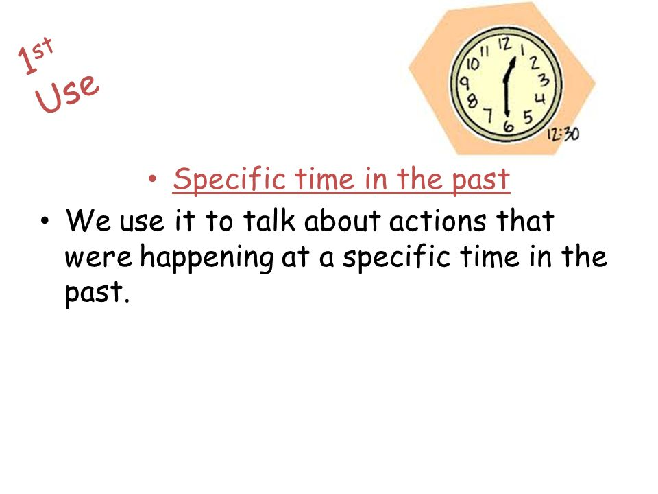 Specific time in the past