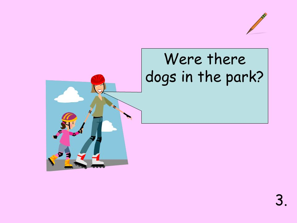Were there dogs in the park