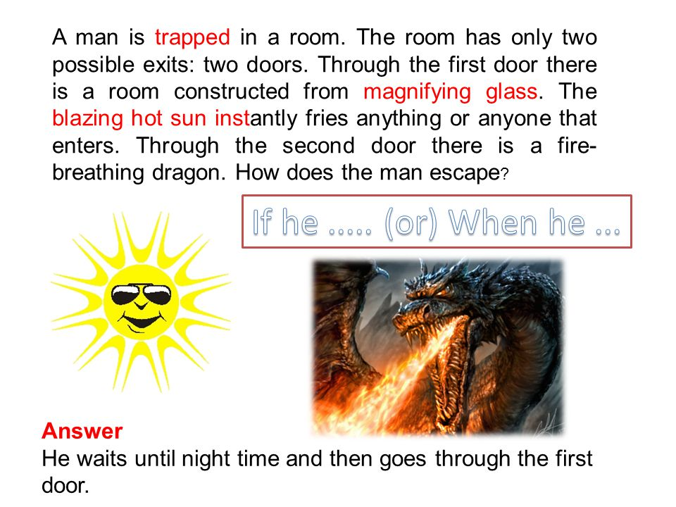 A man is trapped in a room