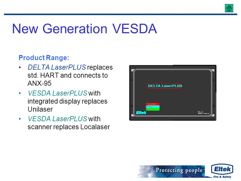 New Generation VESDA Product Range: