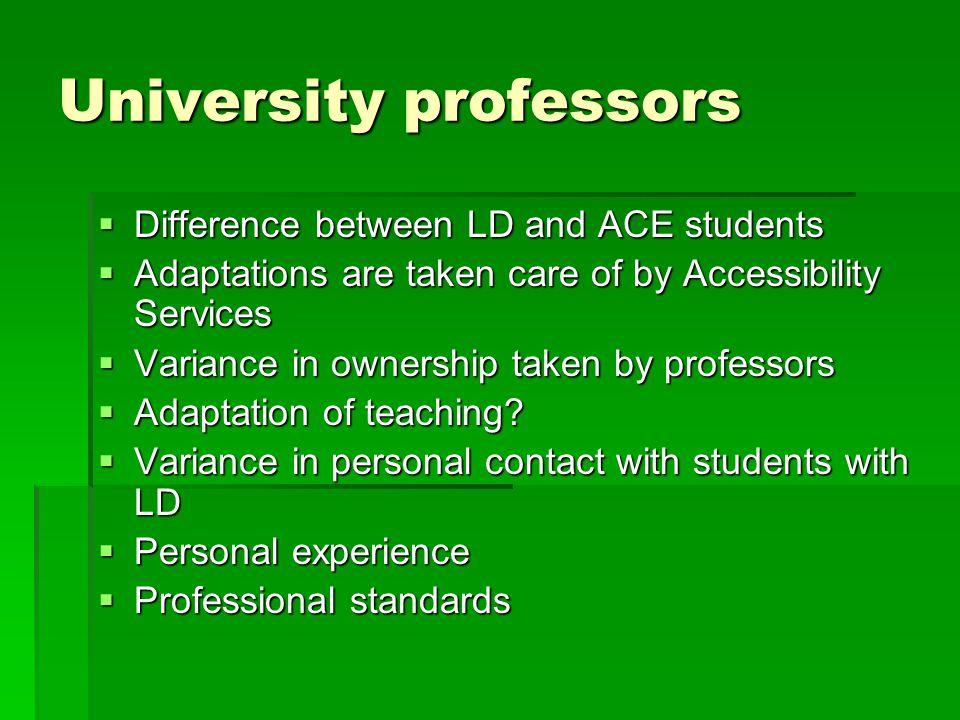 University professors