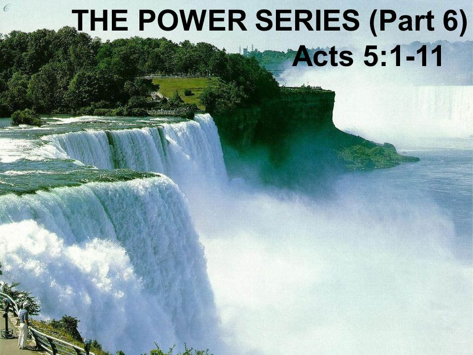 THE POWER SERIES (Part 6)