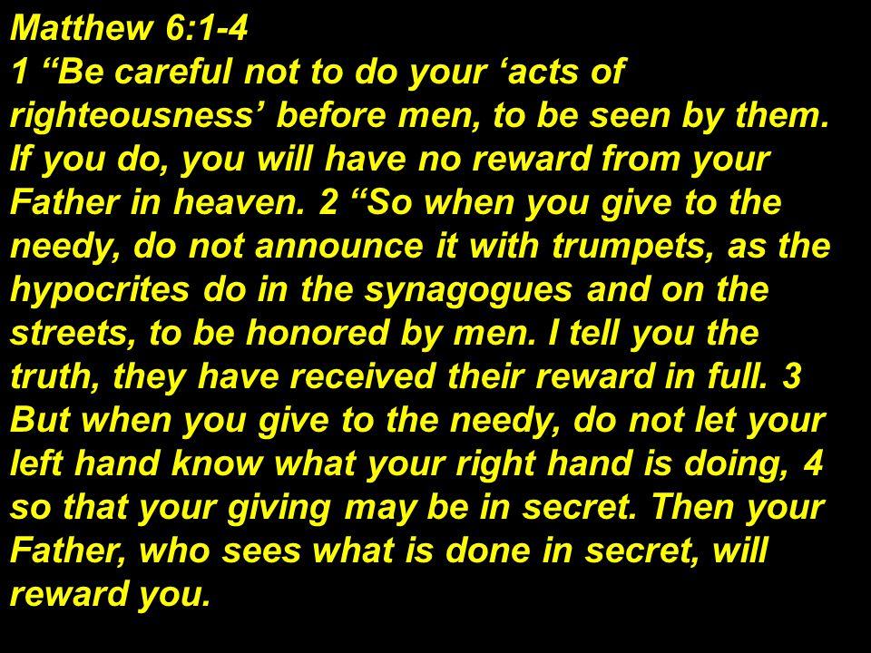 Matthew 6:1-4