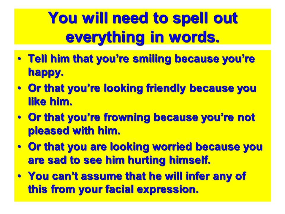 You will need to spell out everything in words.