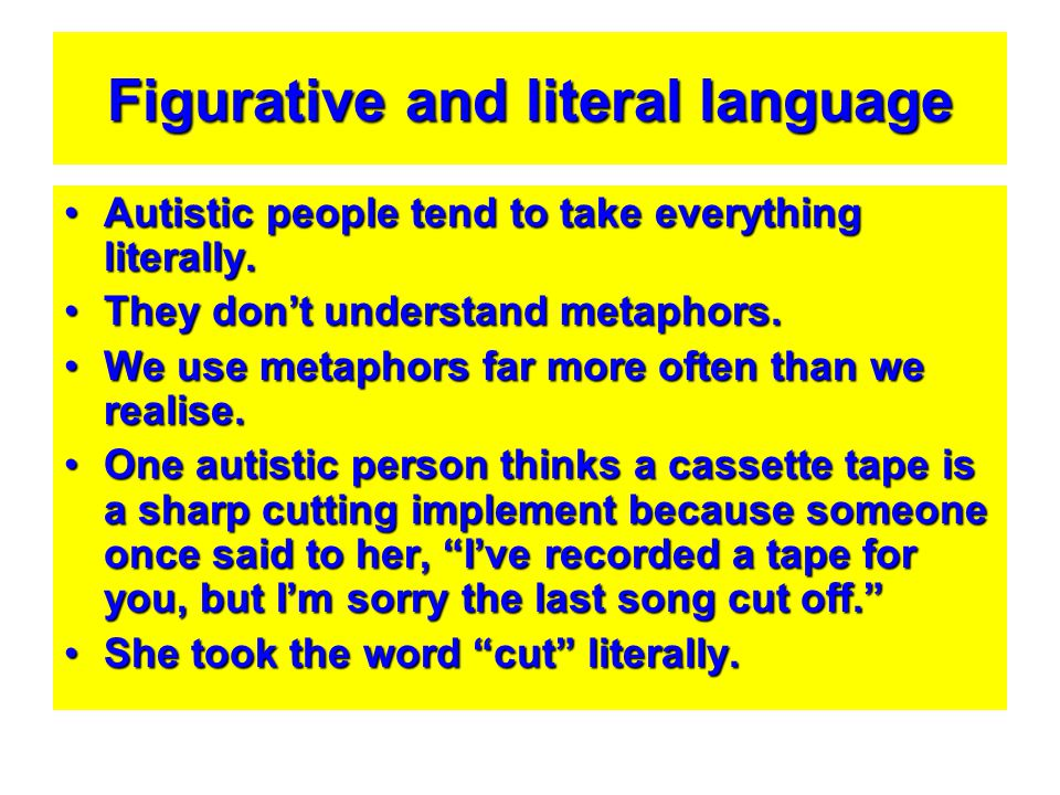 Figurative and literal language