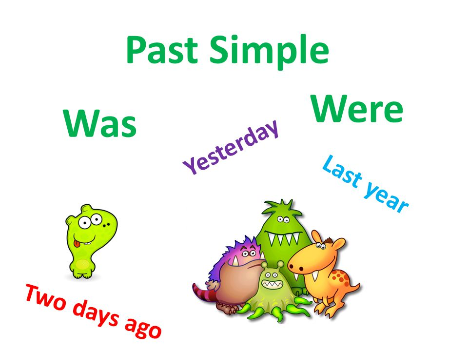 Past Simple Were Was Yesterday Last year Two days ago
