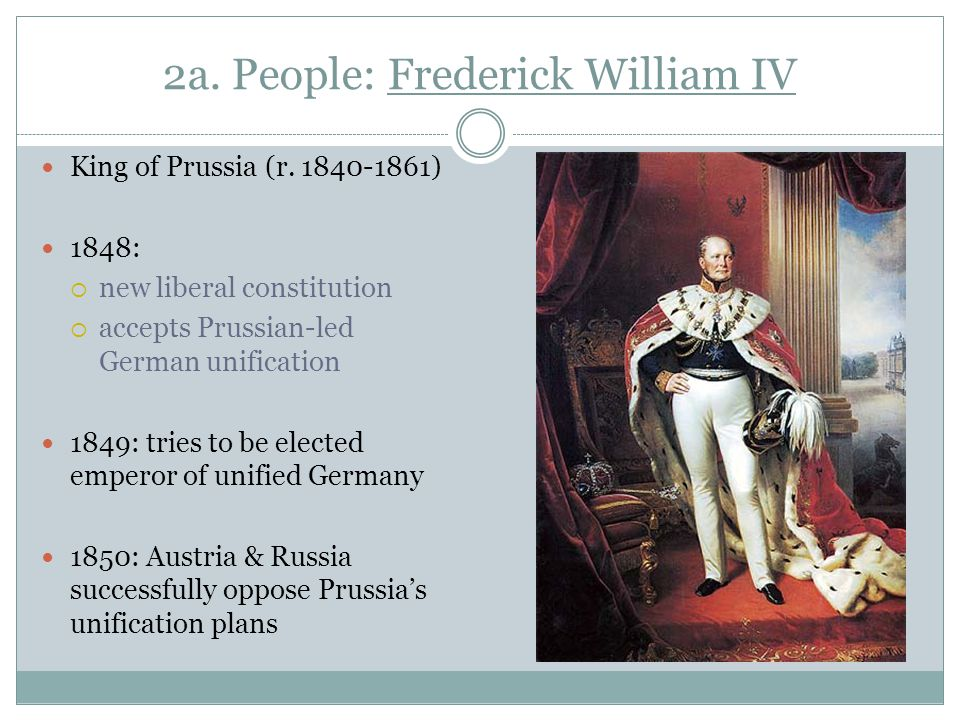 2a. People: Frederick William IV