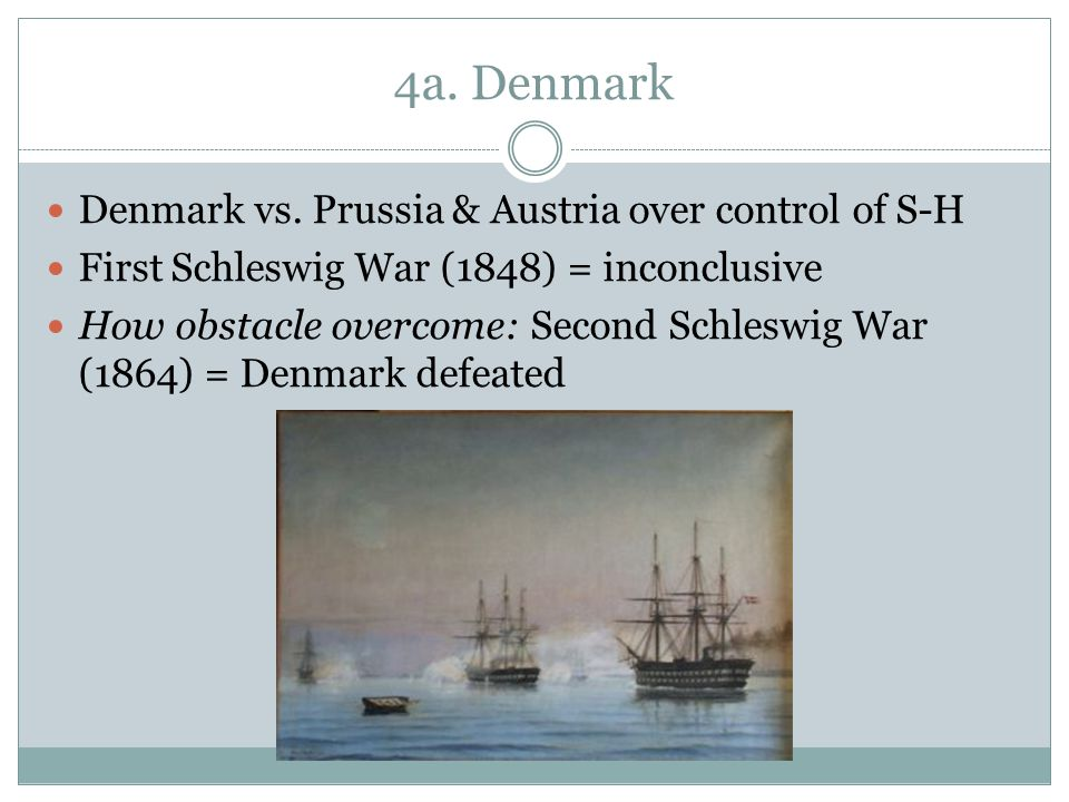 4a. Denmark Denmark vs. Prussia & Austria over control of S-H