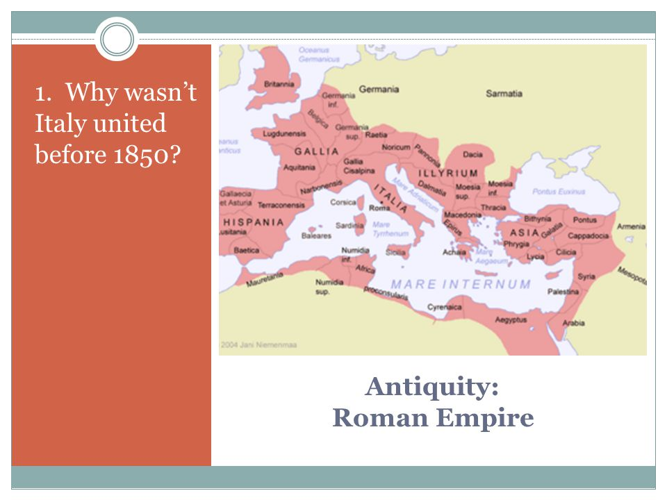 Antiquity: Roman Empire