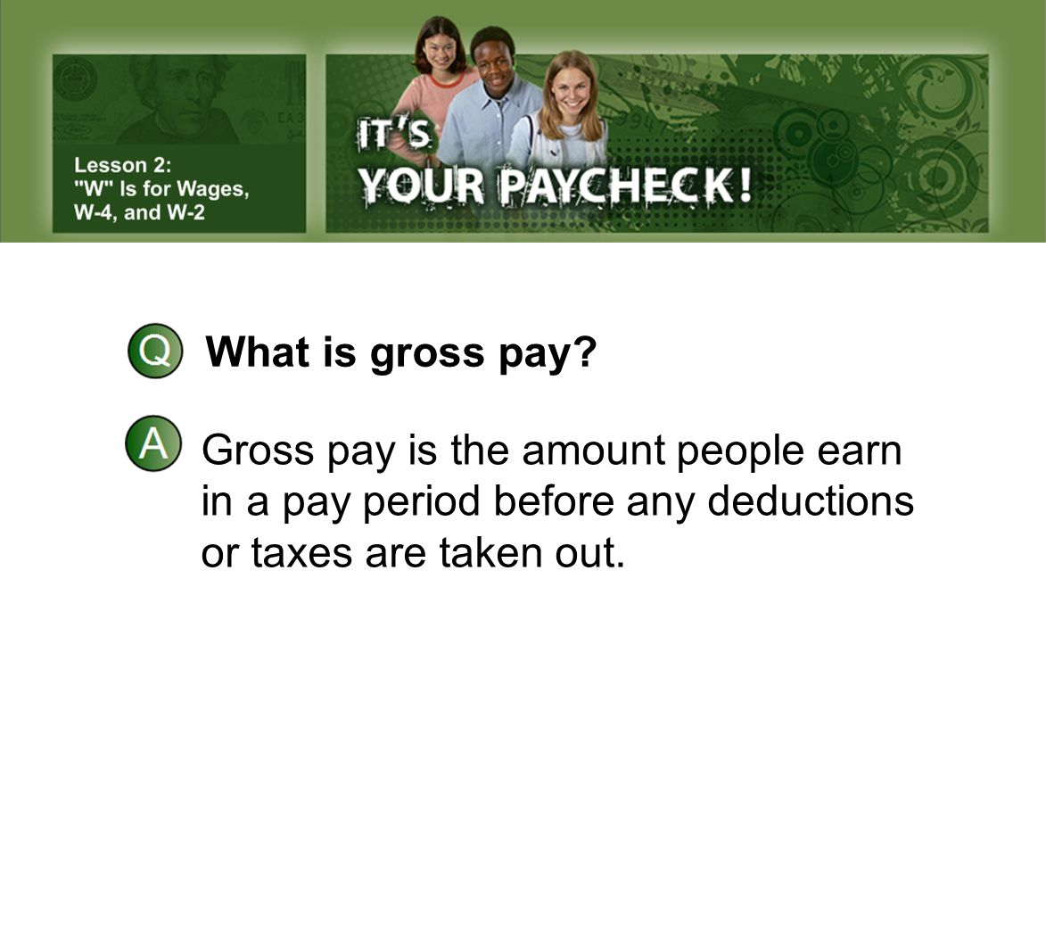 What is gross pay. Gross pay is the amount people earn.