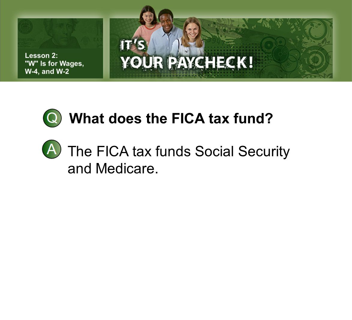 What does the FICA tax fund