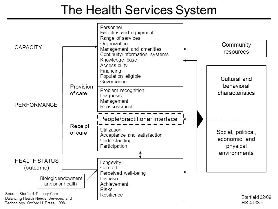 The Health Services System