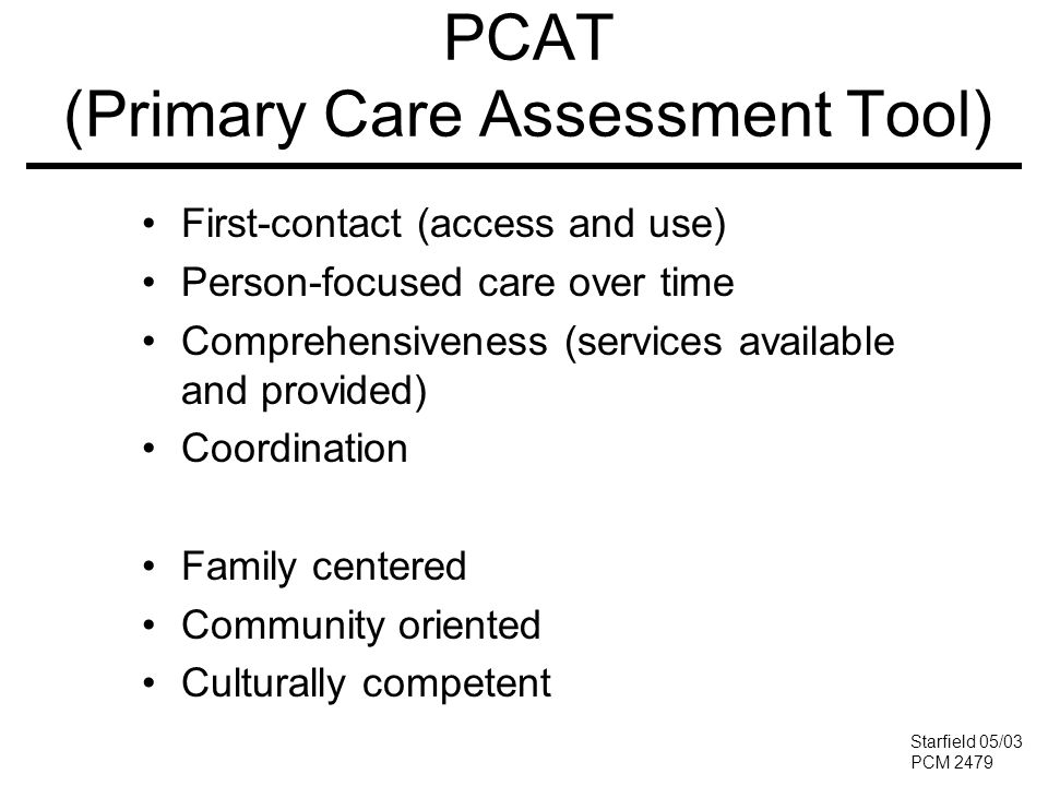 PCAT (Primary Care Assessment Tool)