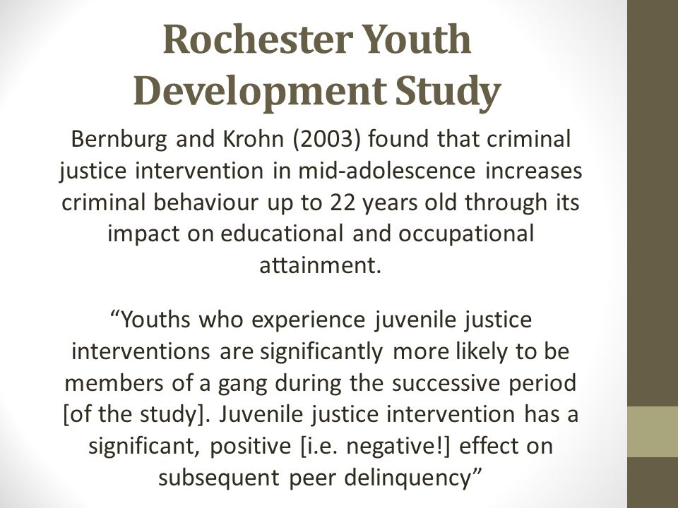 Rochester Youth Development Study