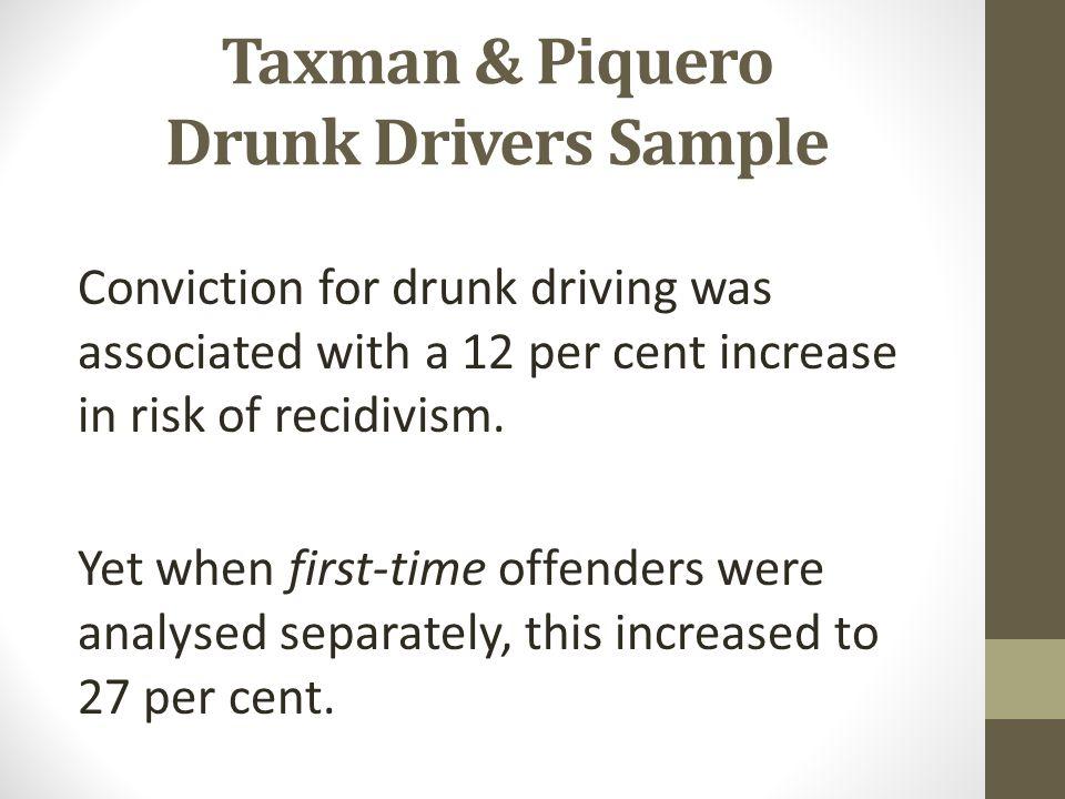 Taxman & Piquero Drunk Drivers Sample