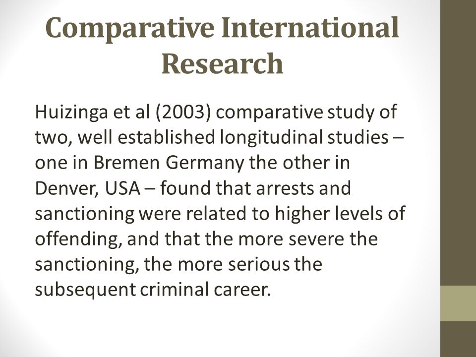 Comparative International Research