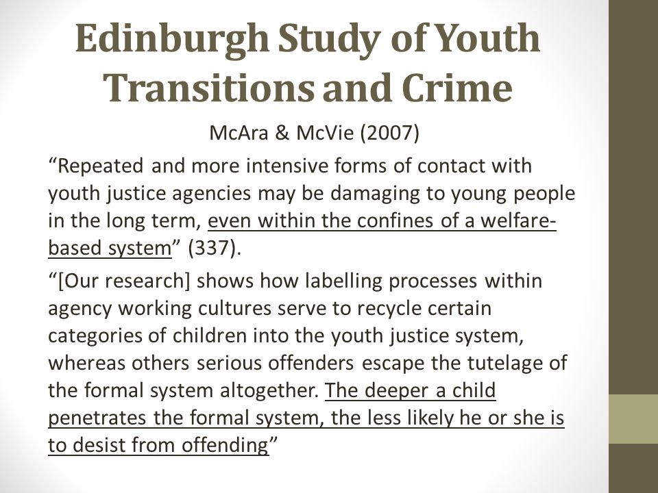 Edinburgh Study of Youth Transitions and Crime