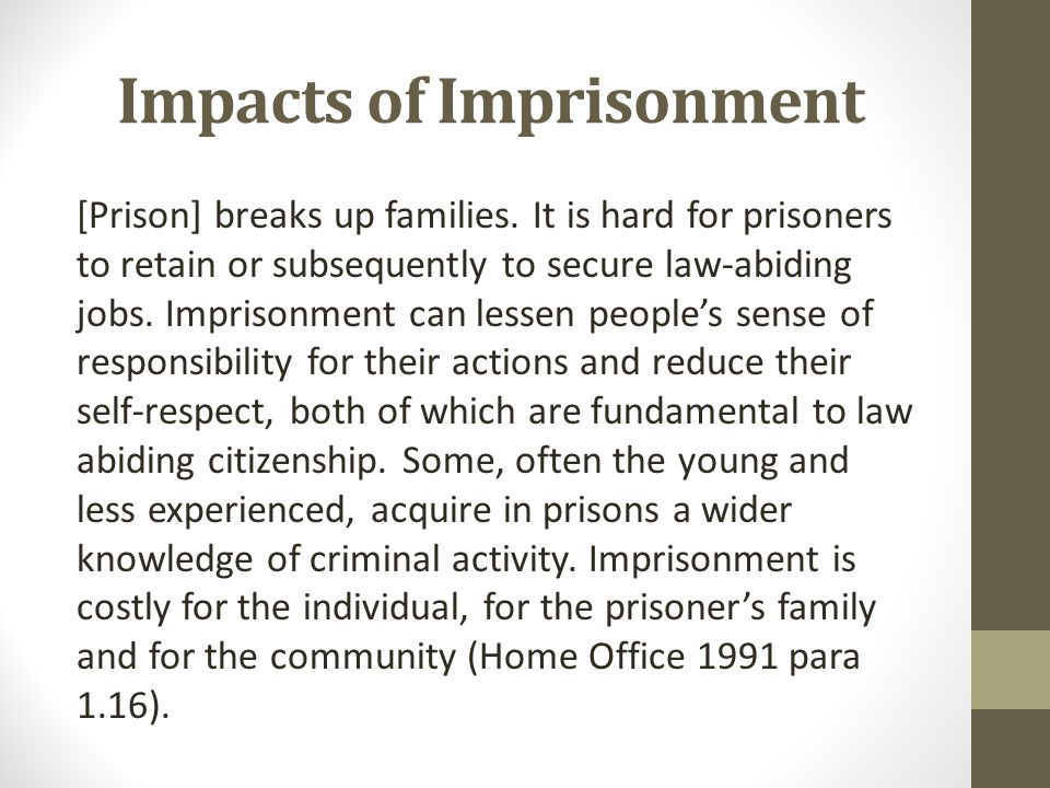 Impacts of Imprisonment