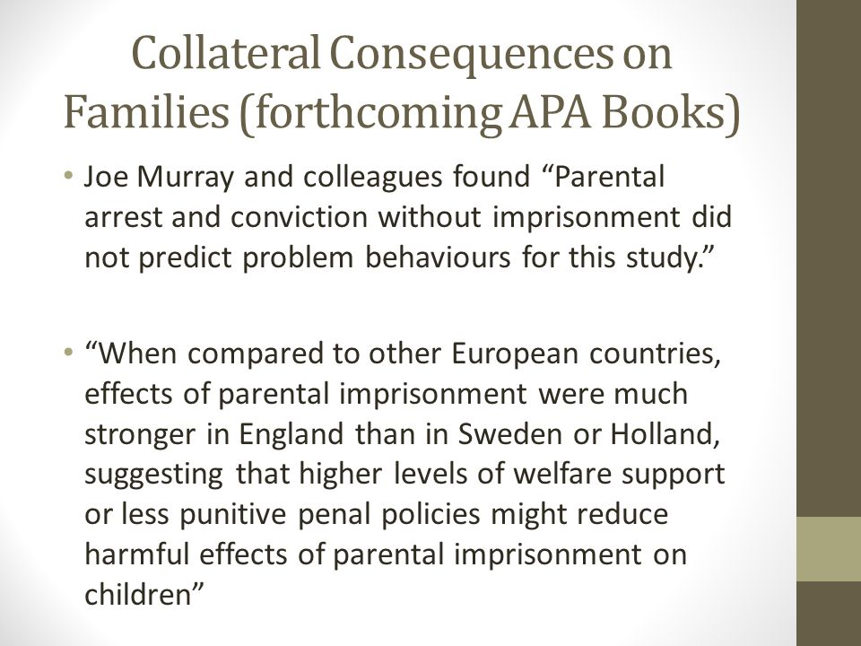 Collateral Consequences on Families (forthcoming APA Books)