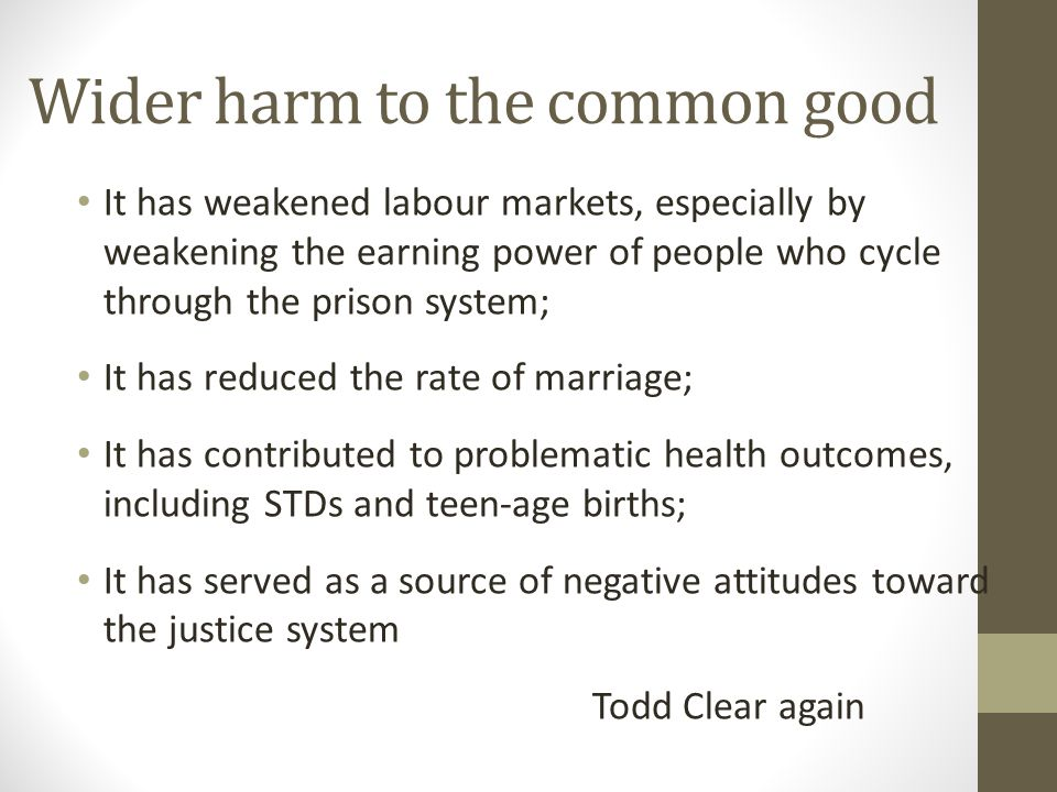 Wider harm to the common good