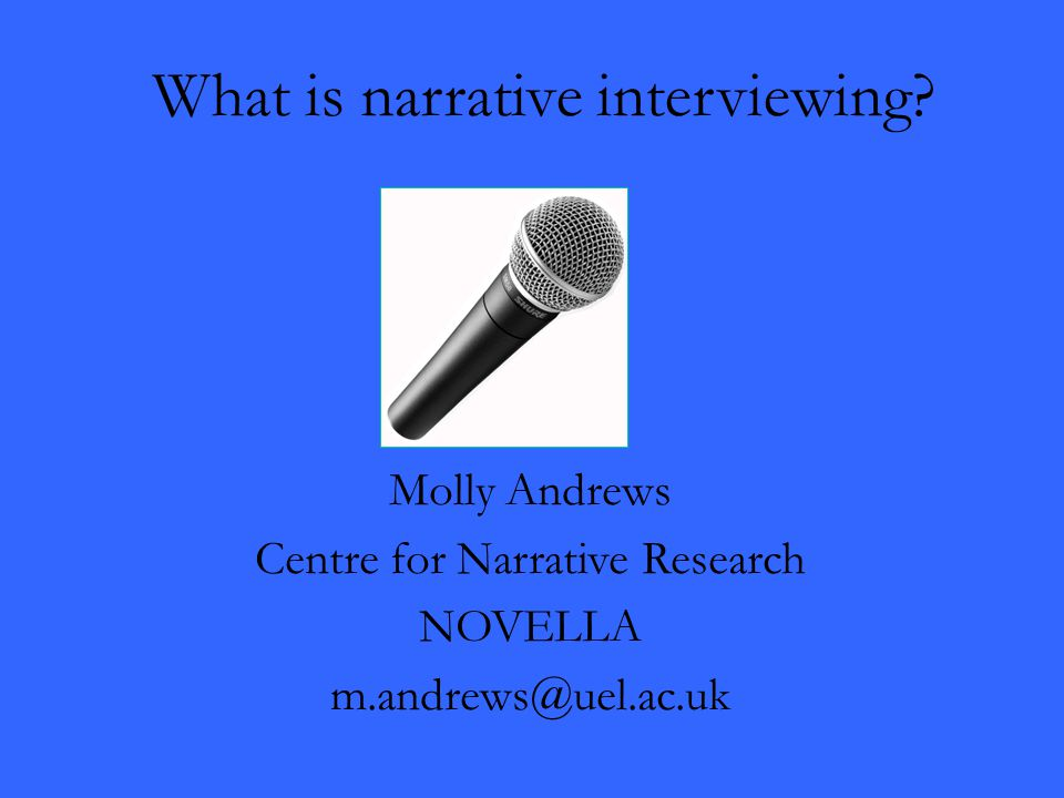What is narrative interviewing