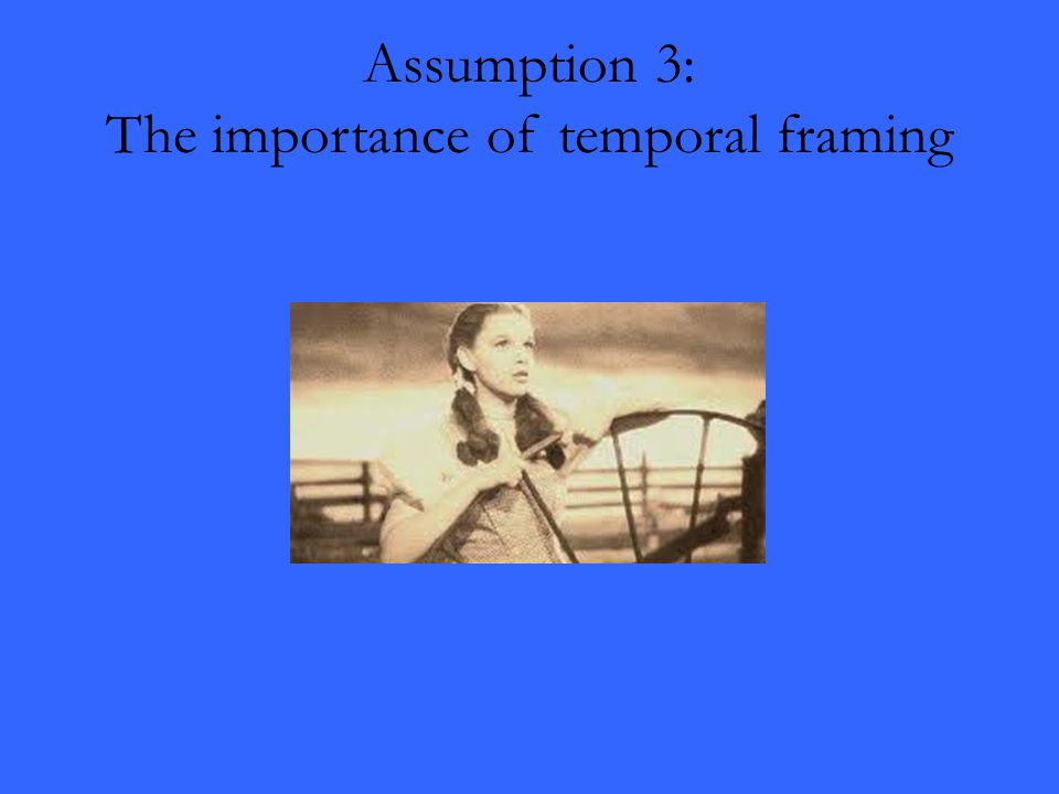 Assumption 3: The importance of temporal framing