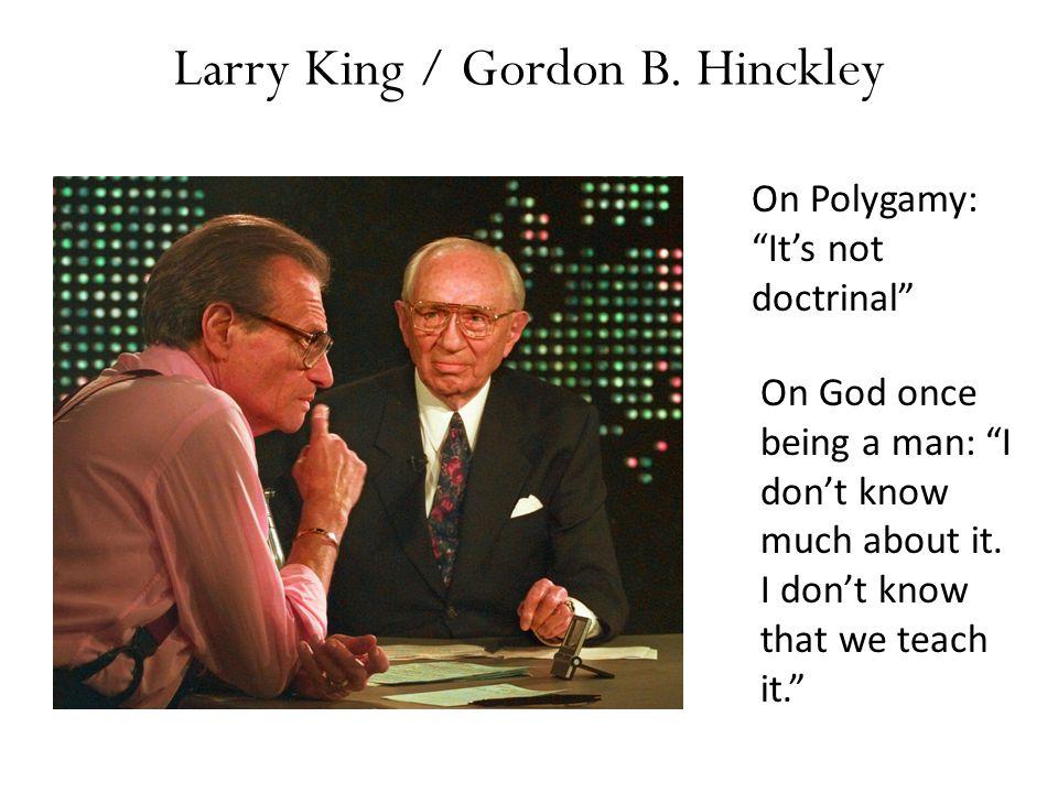 Larry King / Gordon B. Hinckley