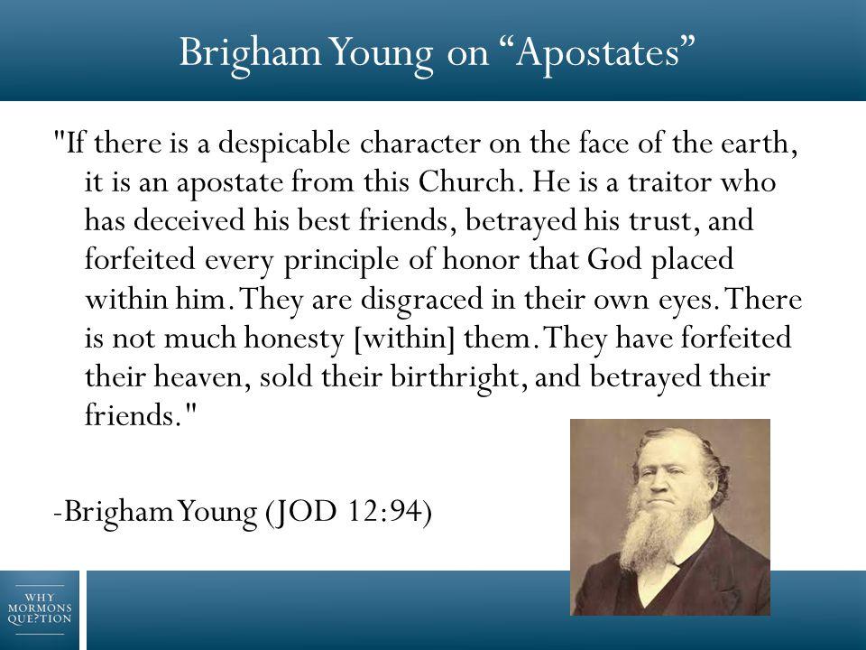 Brigham Young on Apostates