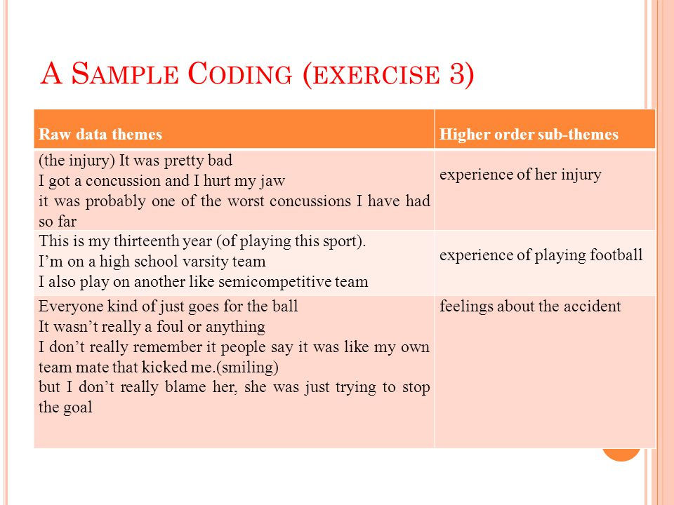 A Sample Coding (exercise 3)