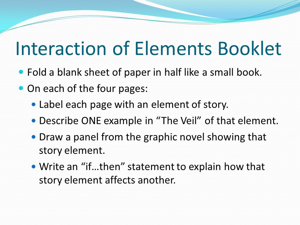 Interaction of Elements Booklet