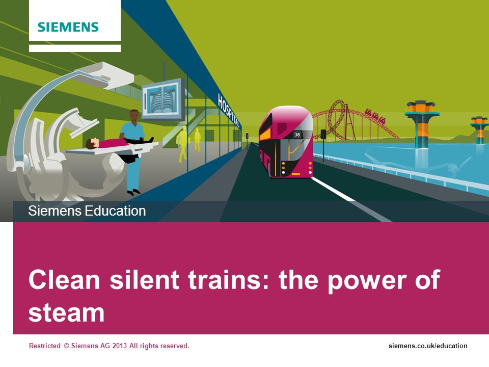 Clean silent trains: the power of steam
