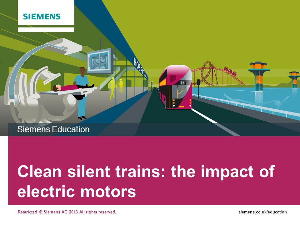Clean silent trains: the impact of electric motors